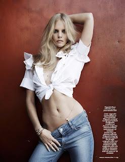 Marloes Horst  stomach for Vogue Netherlands June 2015