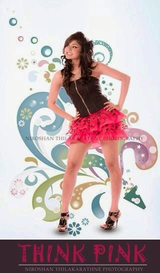Nuwani De Silva gal deka legs pink