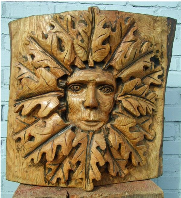 Artparks sculpture greenman large carved wooden