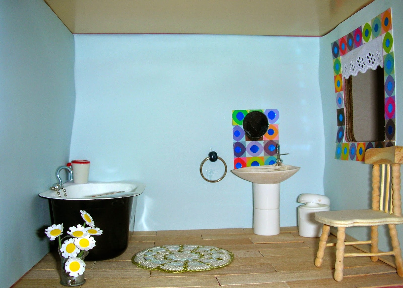 Le petit monde de line ma maison de poup e la salle de for M bricolage salle de bain
