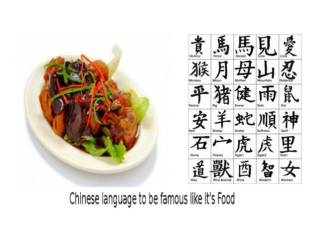 Chinese Food and Chinese Language