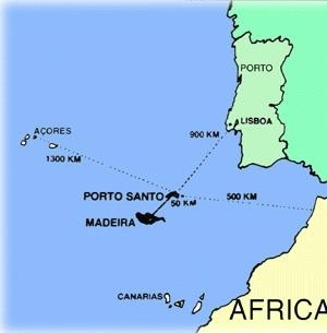 carte ile de madere portugal