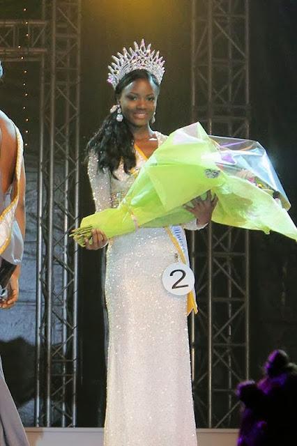 Miss Gabon Universe 2014 winner Maggaly Omrnellia Emmanuelle Nguema
