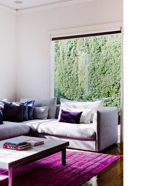 escapade: Fuchsia on the floor