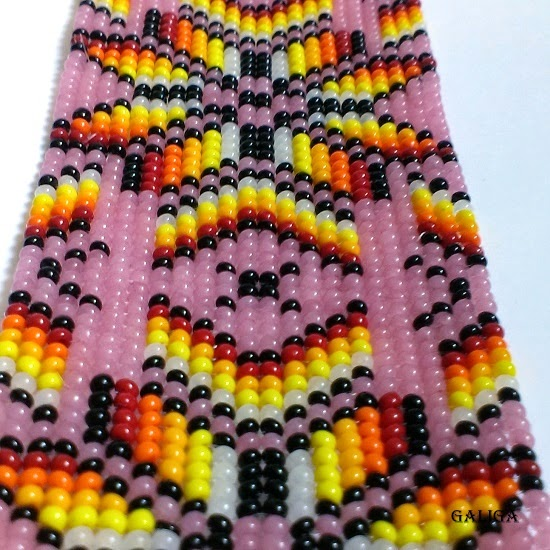 lavender theme-ethnic style beaded jewelry-colorful seed bead bracelet
