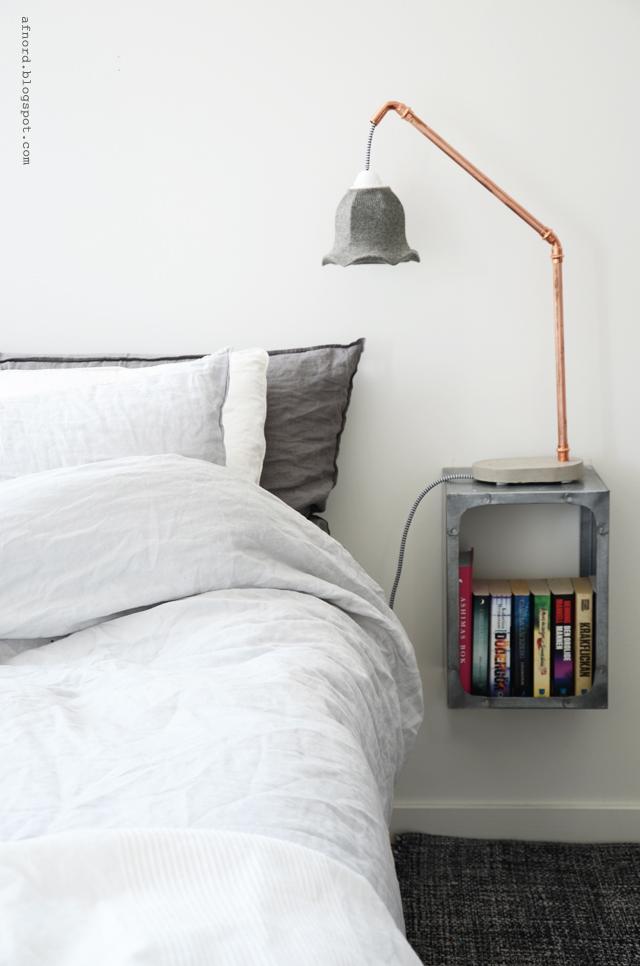 DIY betong och kopparlampa – DIY Mormorsglamour