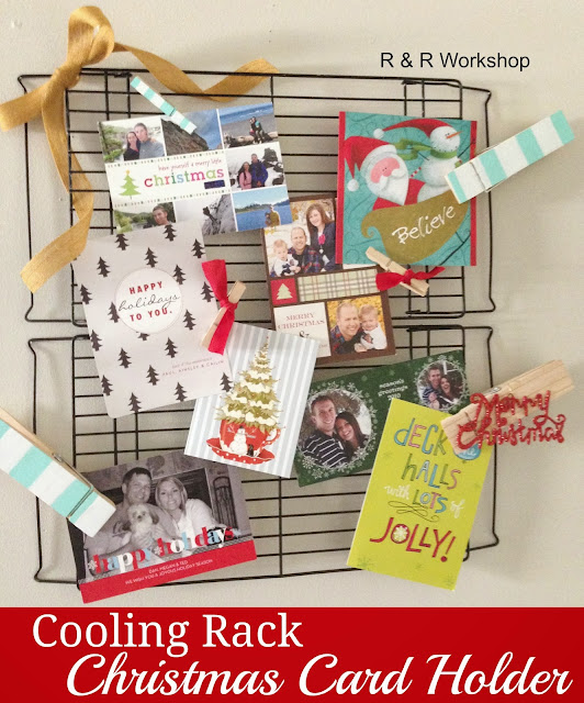 Someday crafts cooling rack christmas card holder for Christmas card holder craft project