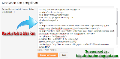 Redirect Halaman Error 404 [Page Not Found] Ke Homepage
