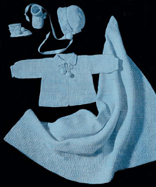 Sentimental Baby: Baby Sweater Set Crochet Pattern