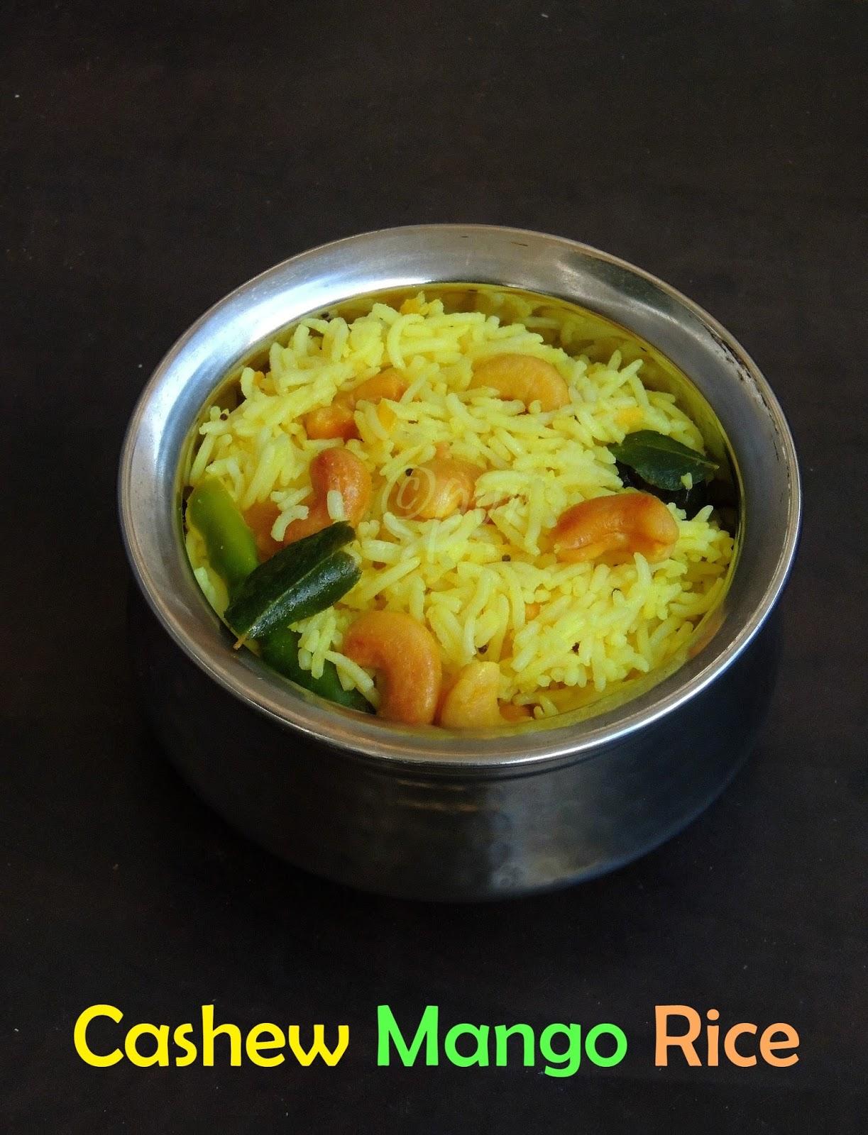 ... Recipes: Vegan Cashew Raw Mango Rice/ Munthiri Maanga Saadham