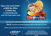 INOXMOVIES- ICICI-Bank-Debit-Card-Buy-One-Get-One-Free-Offer