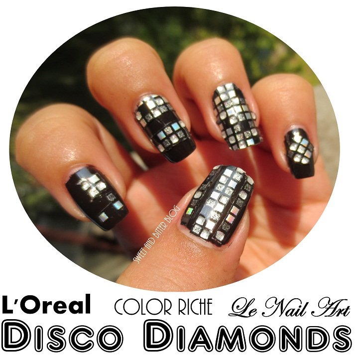 Saturday Night Disco Diamonds Loreal Color Riche Le Nail Art