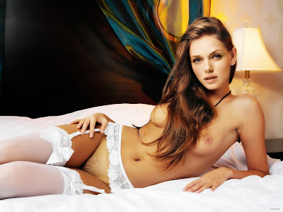 Tracy Spiridakos  Nude in White Lingrie Possing her Boobs Fake