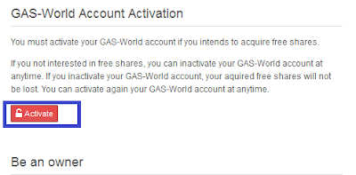 activate gas world