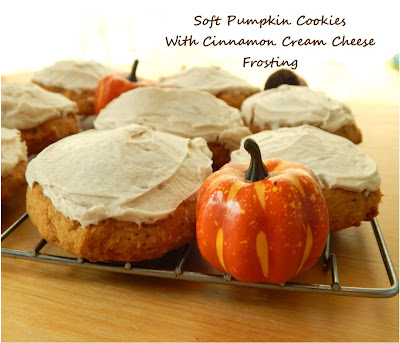 ... : Soft Pumpkin Cookies with Cinnamon Cream Cheese Frosting