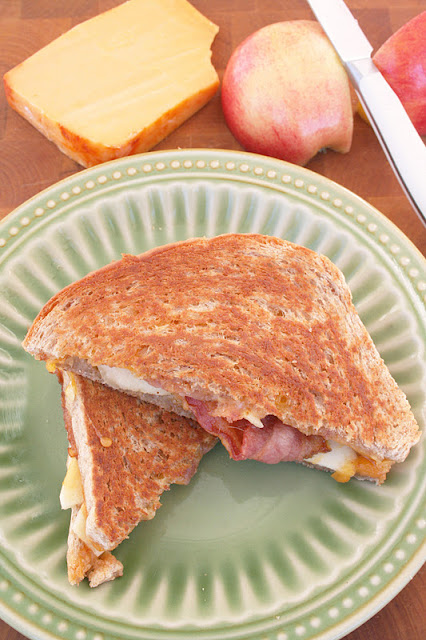 Bacon, Apple and Applewood Cheddar Grilled Cheese