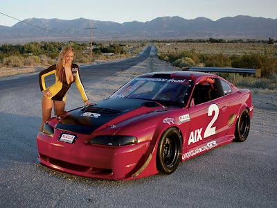 Ford Mustang Cobra and Girls