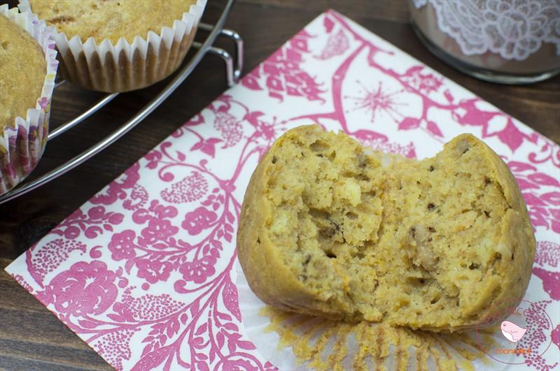 Muffins de calabaza cortados
