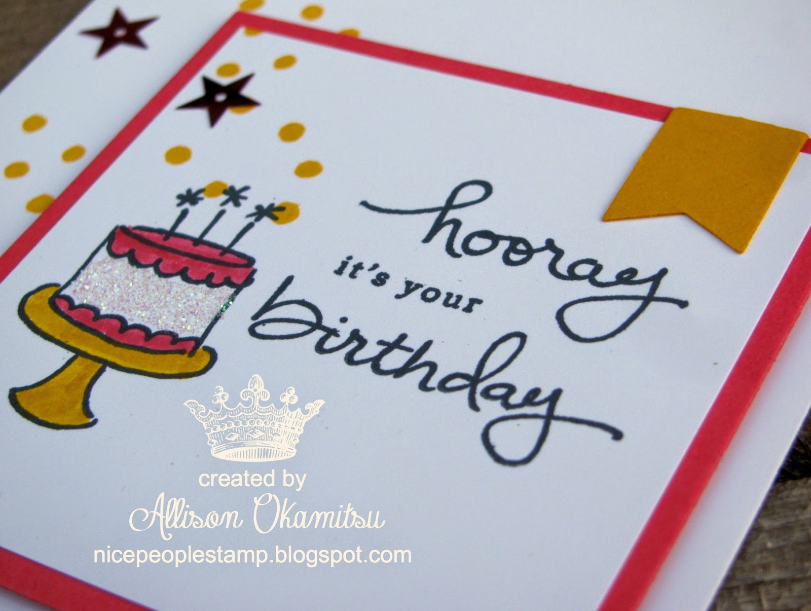 nice people STAMP Endless Birthday Wishes Card