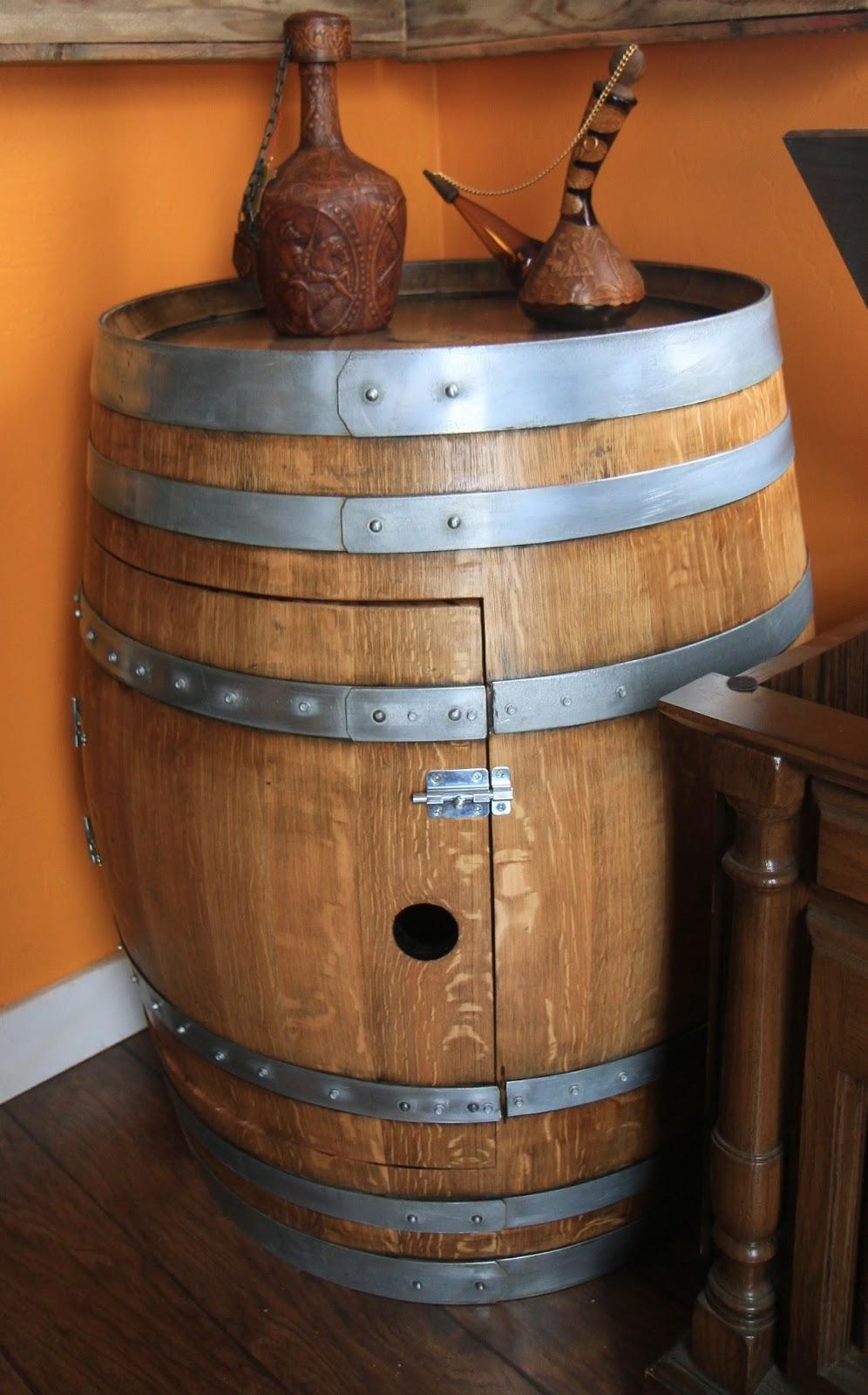 Wine Barrel Cabinet