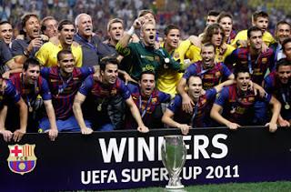 FÚTBOL-Barça campeón de la Supercopa de Europa 2011