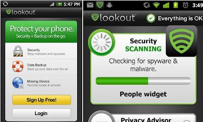 Lookout Antivirus: Antivirus Gratuit pour android - android apps apk