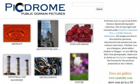 Picdrome. Colección de fotos de alta calidad para descargar gratuitamente