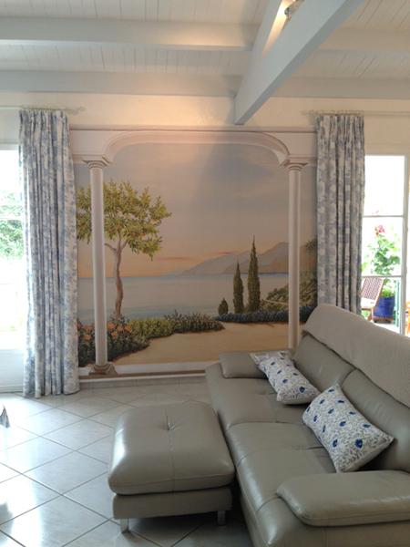 mur trompe l oeil papier peint trompe luoeil double porte. Black Bedroom Furniture Sets. Home Design Ideas