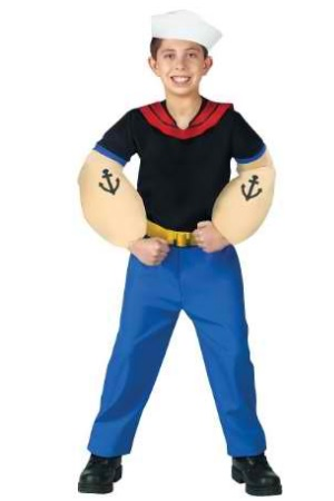 Popeye Costume Child Small 4-6