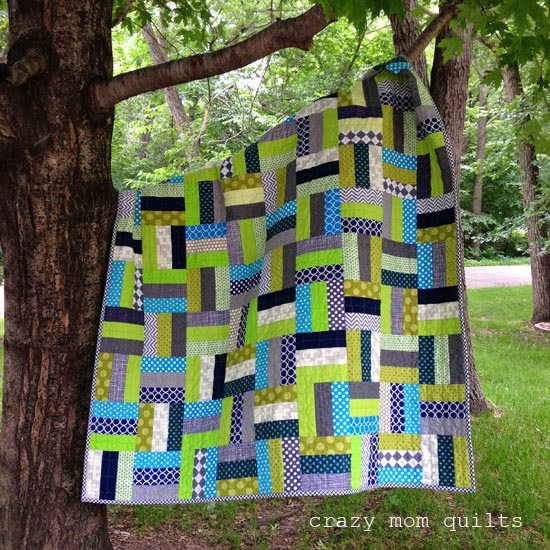 Crazy mom quilts scrap basket quilt along link up