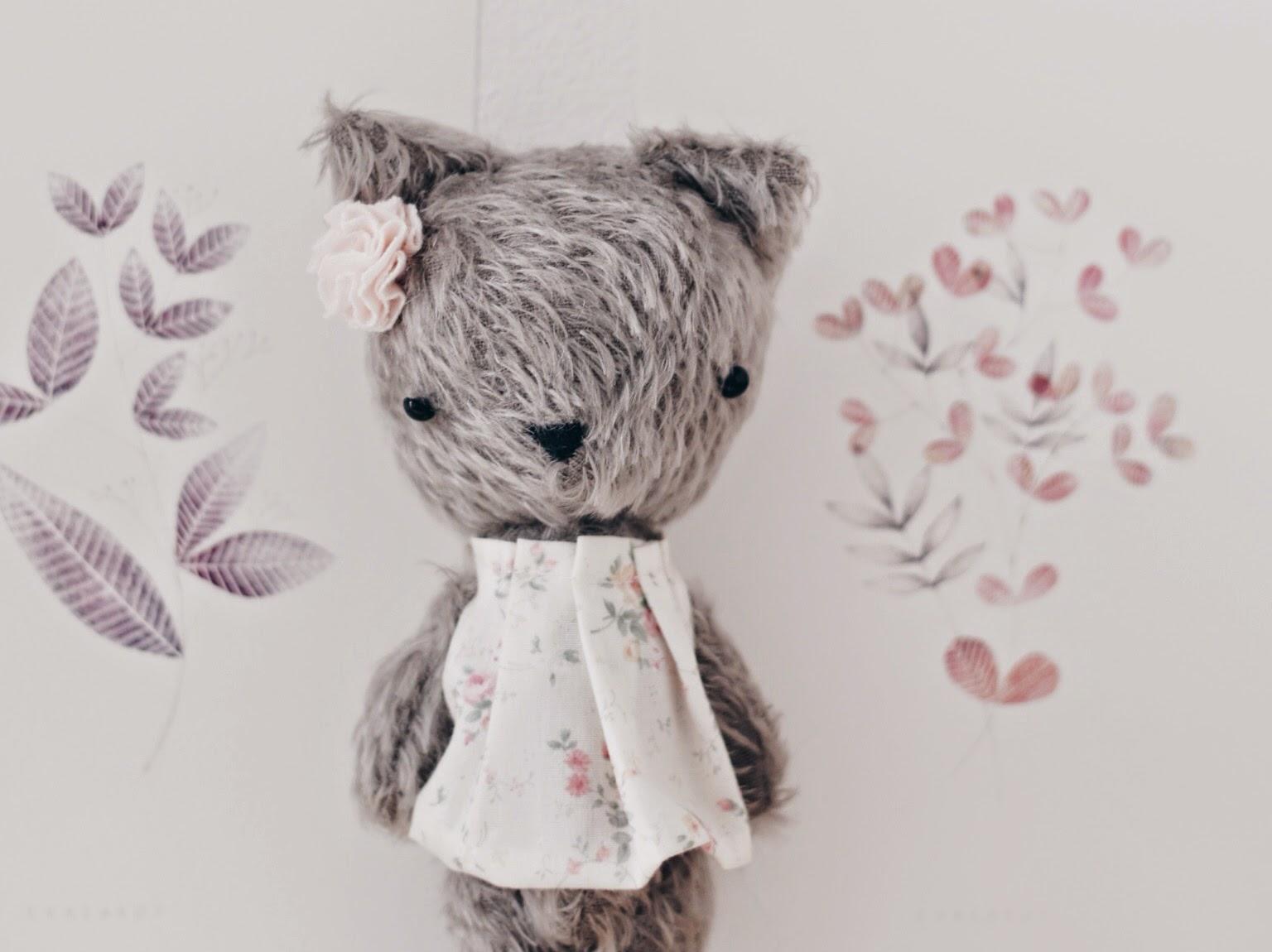 único, ooak, handmade, cute, softie, cat, kitty