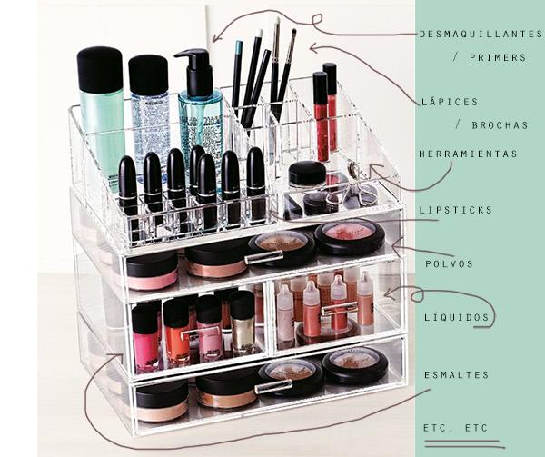 organizar maquillaje