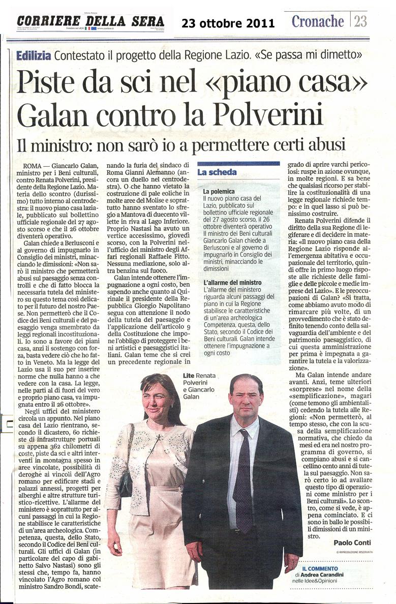 Tg roma talenti clamoroso il piano casa della regione for Corriere della sera casa