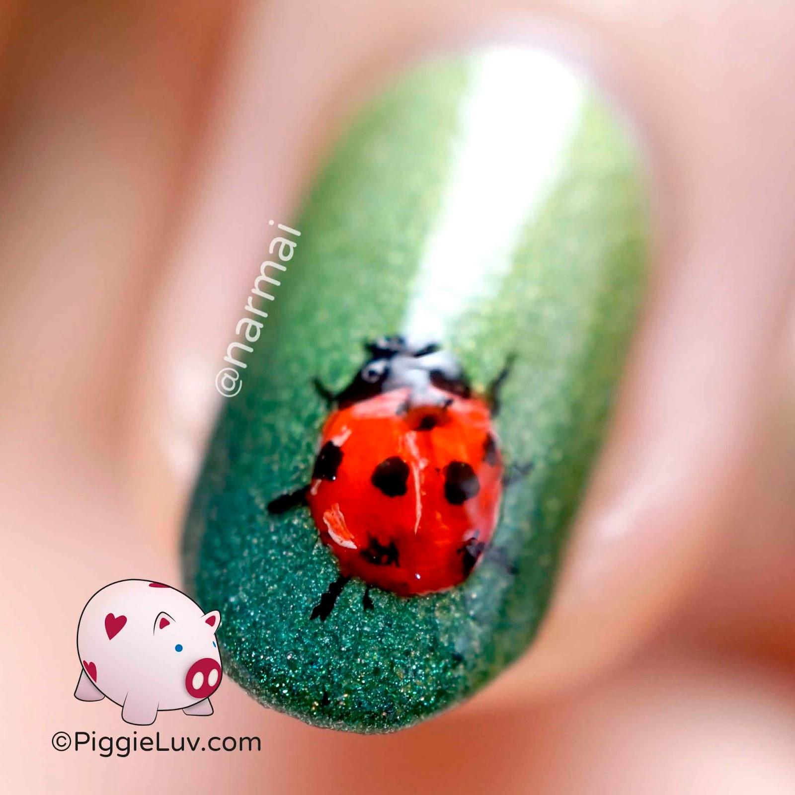 Easy Ladybug Nail Designs Piggieluv Freehand Ladybug Nail Art