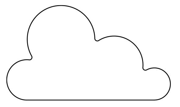 Coj n nube mi primera m quina de coser - Como hacer una nube ...