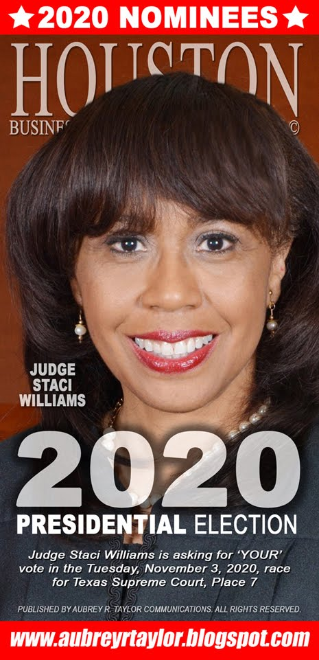 Judge Staci Williams Values Your Vote, Prayers, and Support on Tuesday, November 3, 2020