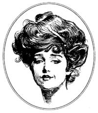 Dibujo de Irene Adler de la época en que se publico la historieta.