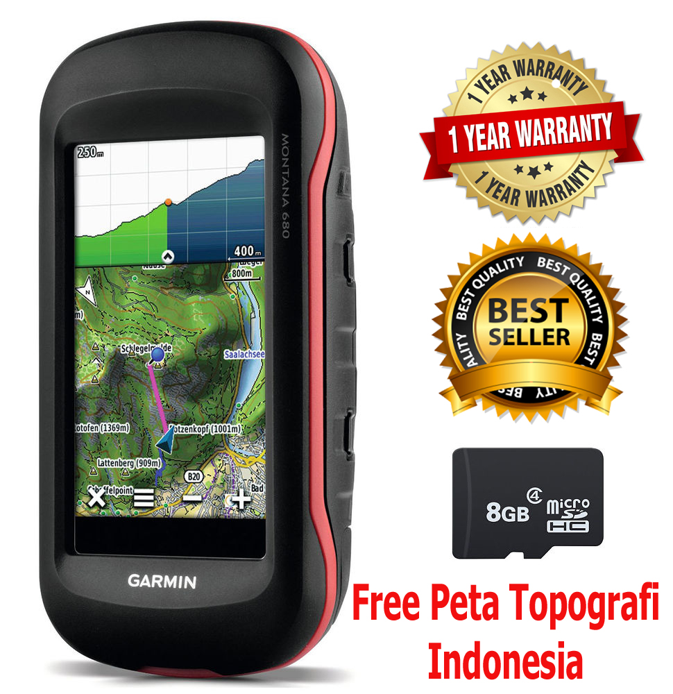 Garmin Montana 680 Free Topografi map
