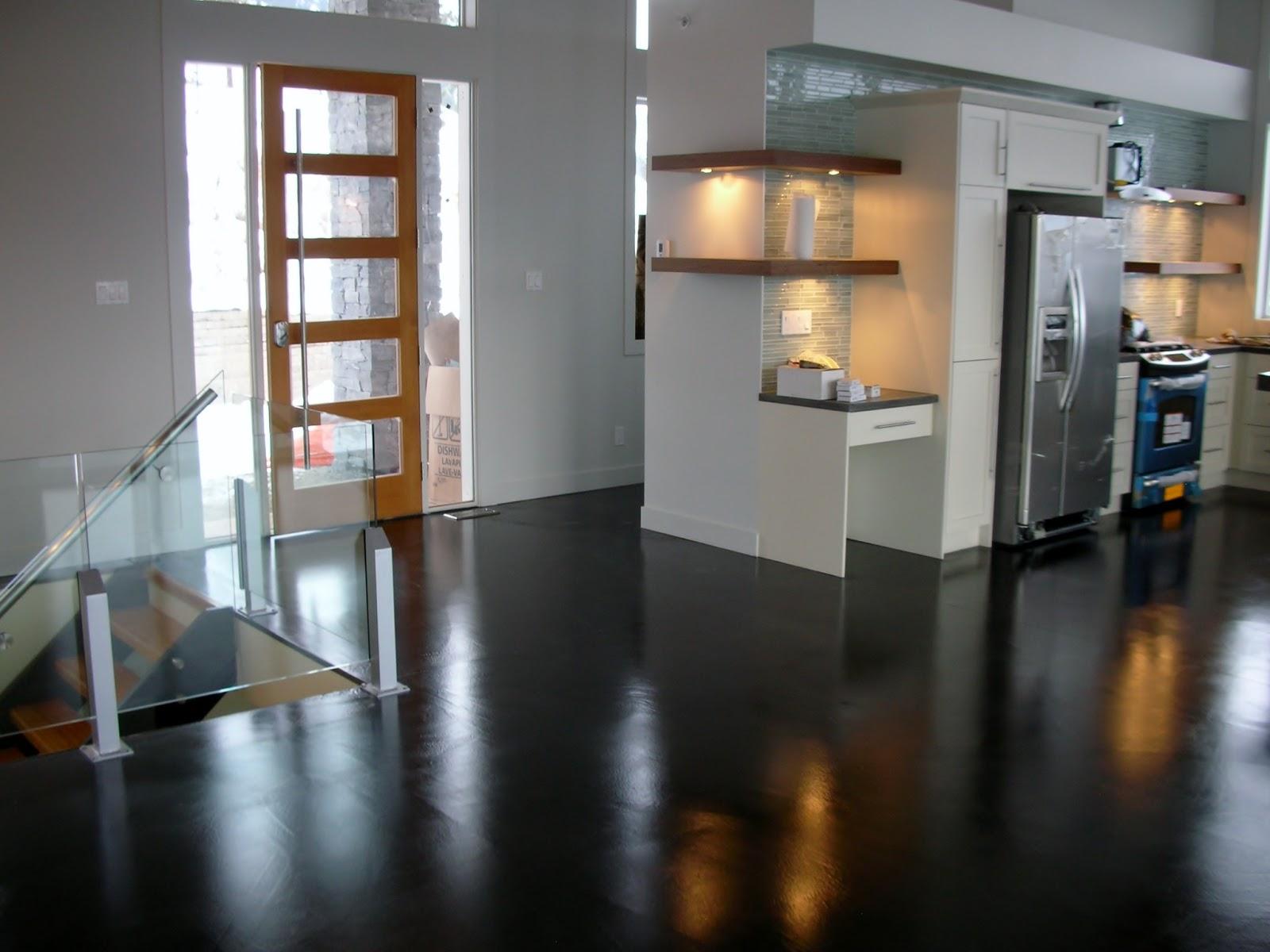 MODE CONCRETE Considering Concrete Floors in the Kitchen Bathroom