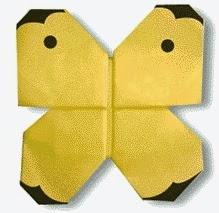 Cách gấp, xếp con Bướm Cabbage bằng giấy origami - Video hướng dẫn xếp hình côn trùng - How to fold a Butterfly