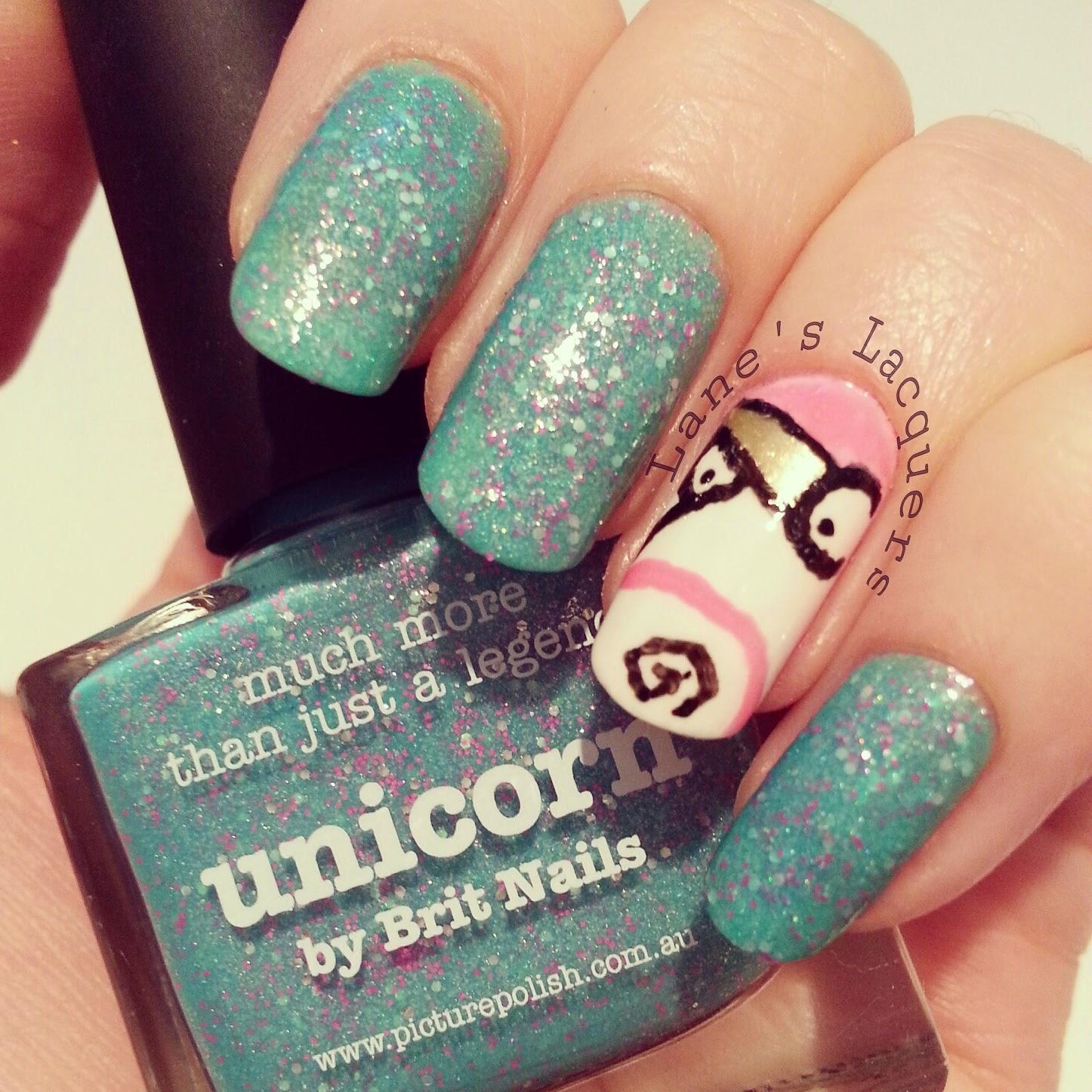 picture-polish-unicorn-despicable-me-teddy-nail-art (2)