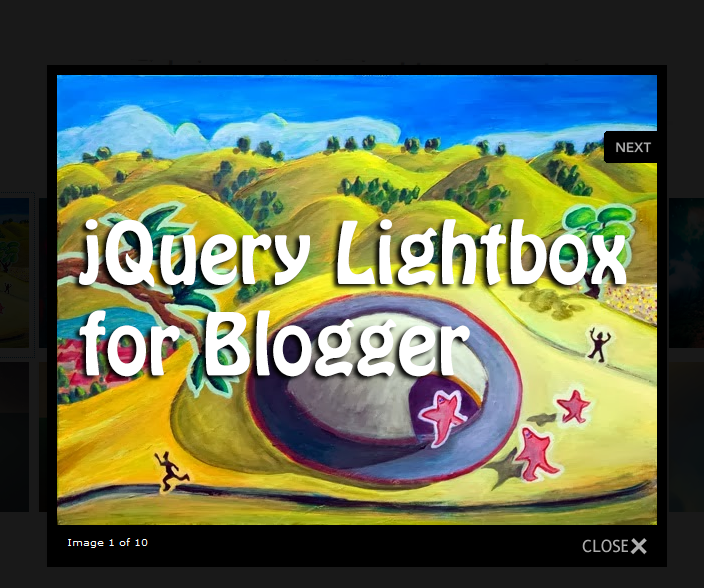 jquery lightbox, blogger plugins