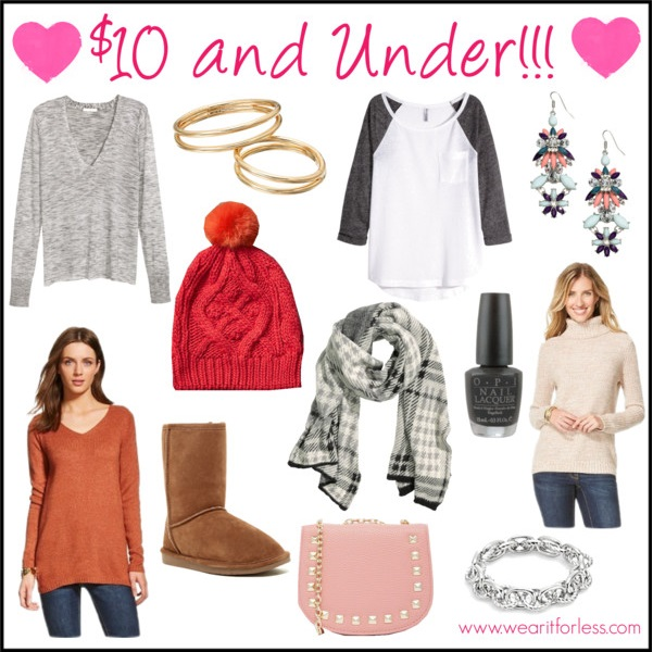 LC Lauren Conrad Double Band Midi Ring Set • $5.60  Merona® Women's Tunic Sweater • Merona • $9.78  ASOS COLLECTION ASOS Mini Saddle Cross Body Bag With Studs • Asos • $9.50  H&M Fine-knit Sweater - Dark gray melange • H&M • $9.99  Cable knit pom-pom beanie • Gap • $8.99  Chain Link Bracelet/Silvertone • Punch • $9.99  H&M Long Earrings - Silver-colored • H&M • $7.99  OPI PRODUCTS, INC. OPI Black Onyx Nail Polish - .5 oz. • JCPenney • $6  H&M Jersey Top - White/Gray • H&M • $9.09  Abound Sasha Short Genuine Shearling Suede Boot • $9.90  H&M Plaid Scarf - Gray/checked • H&M • $9.99  Merona® Women's Pullover Sweater • Merona • $8.74
