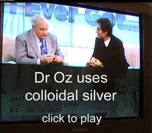 Dr Oz uses colloidal silver on his show