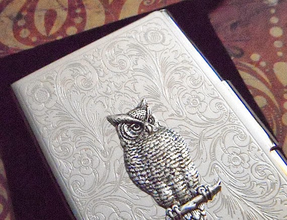 https://www.etsy.com/nz/listing/74544230/silver-owl-business-card-case-owl-card