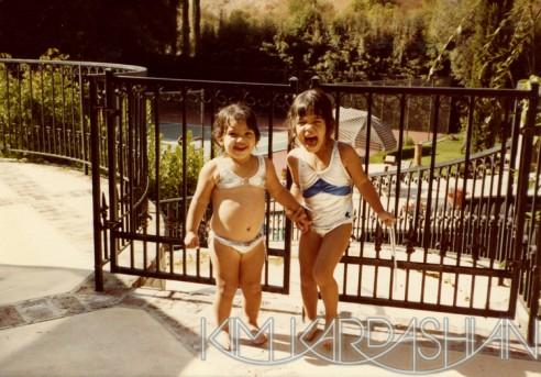 rare childhood pictures kim kardashian kourtney kardashian