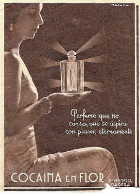 etiqueta 2, perfume, cocaina en flor,