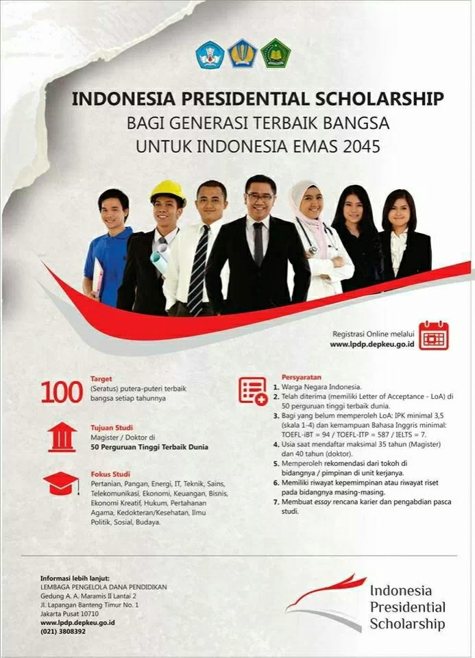 indonesia presidential scholarship lpdp