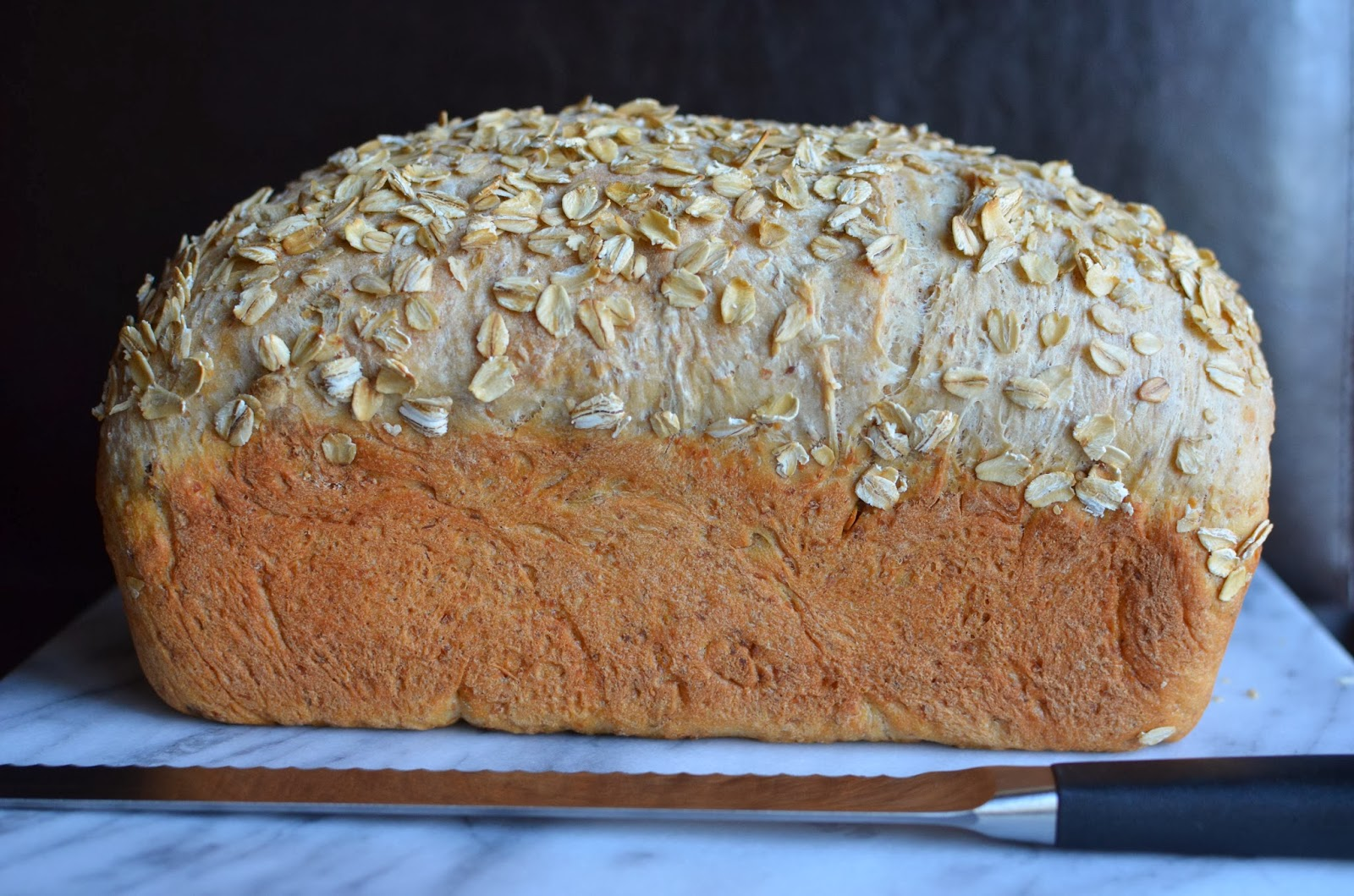 Multigrain bread made with 7-grain hot cereal and pumpkin seeds