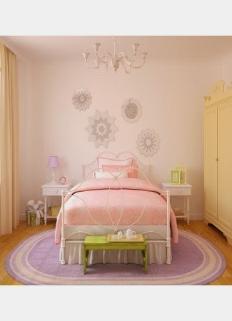 warna cat kamar tidur pink pucat